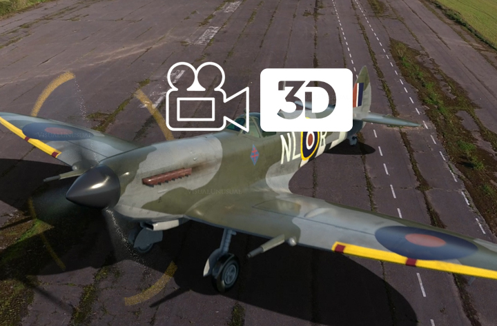 3D Model Spitfire integration into drone footage