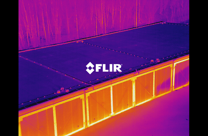 FLIR Thermal imaging survey. Organic waste storage units facility